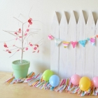 Homemade Mini White Picket Fence
