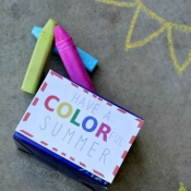 Sidewalk Chalk Summer Printable
