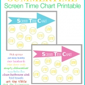 CHILDREN'S SCREEN TIME CHART