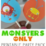 MONSTERS ONLY - printable party pack