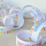 Print & Cut - Back To School countdown chain