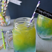 Layered Halloween Drink