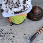 Witch Face Pudding Cups