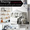 Black & White w/ a pop of color - Room Decor