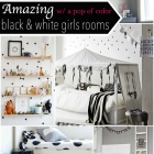Black & White w/ a pop of color - Room Decor