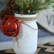 DIY - Faux Spring Christmas Tree + Mason Jar Decor
