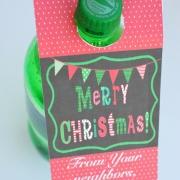 Printable Christmas Soda Tags - Neighbor Gift Blog Hop