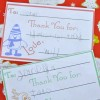 Children's Christmas Thank You Cards