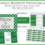 Shamrock BUNCO Printable Pack