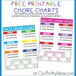 Free Printable Chore Chart PLUS Chore Ideas For Young Kids