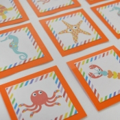 Beach Themed Toddler Memory Game Printable