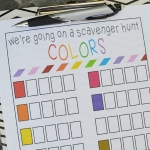 Color Scavenger Hunt - Free Printable