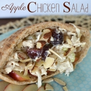 Apple Chicken Salad Pitas - w/ orange almonds