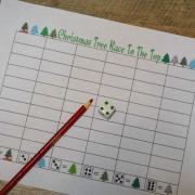 Race to the top - Christmas Tree Printable