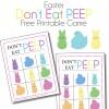 Don't Eat Peep Easter Printable Game