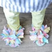 DIY Tutorial - Scrap Fabric Flip Flops