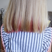 Temporary Hair Dye using Kool-Aid