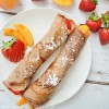 Chocolate Crepes with Fruit Filling