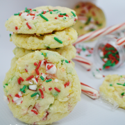 Peppermint Funfetti Cookies - Christmas Recipe
