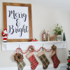 Merry & Bright Christmas Print - Free Download