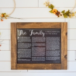 The Family- A Proclamation to the World *Free Printable*