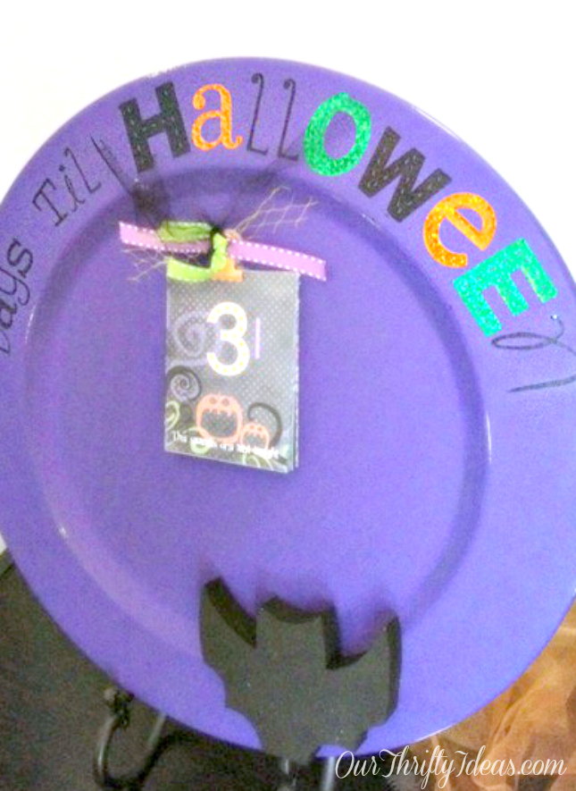 Halloween Countdown Plate
