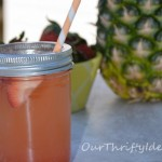 Pineapple & Strawberry Spritzer (non-alcoholic) from OurThriftyIdeas.com