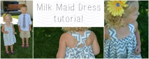 {Sewing Tutorial} Milk Maid Dress
