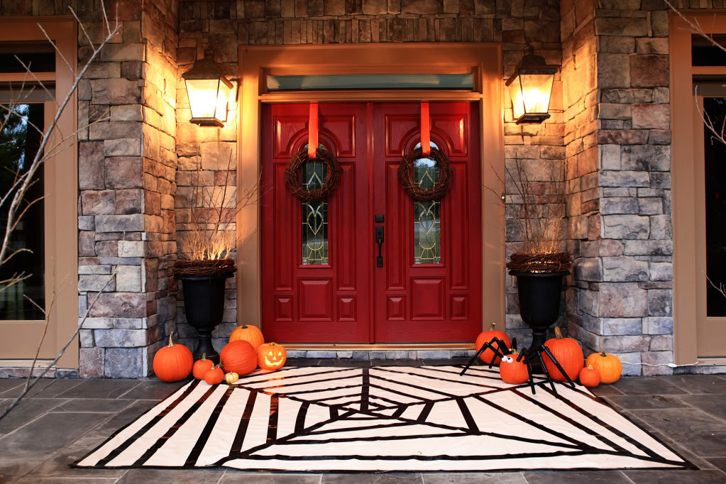 Round Up Halloween Porch Ideas Our Thrifty Ideas