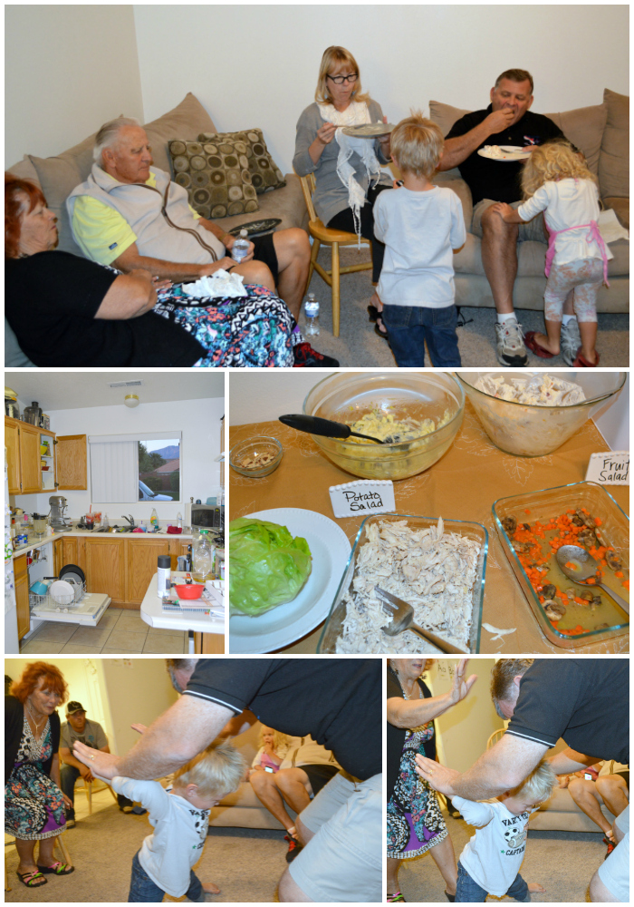 Playing games & food at the dinner party #shop