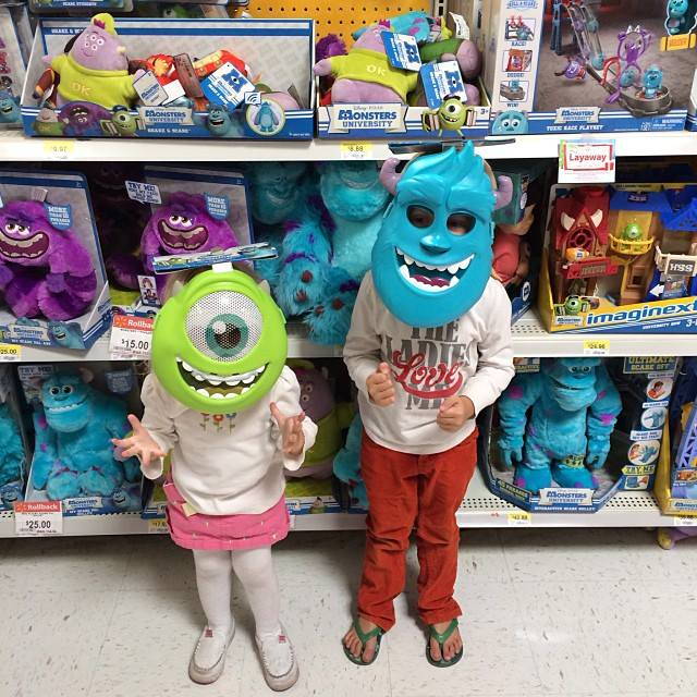 Monsters university party our thrifty ideas monsters university masks sully mike voltagebd Gallery