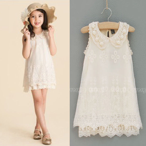 cream colored lace sleeveless dress