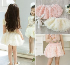 fluffy party tutu skirt in pink or cream