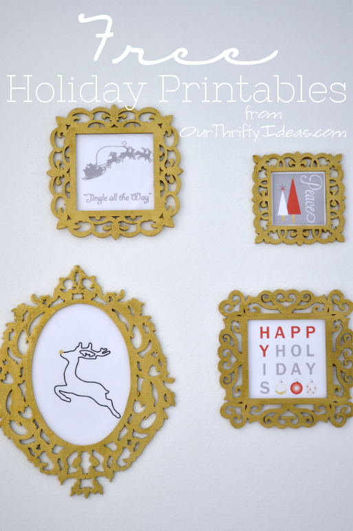 free holiday printables from OutThriftyIdeas.com #printable #free #holiday
