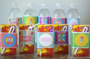 summer water bottle printables