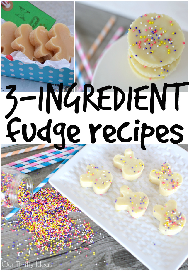 3 ingredient fudge recipes