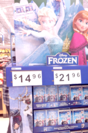 FROZEN on sale at Walmart