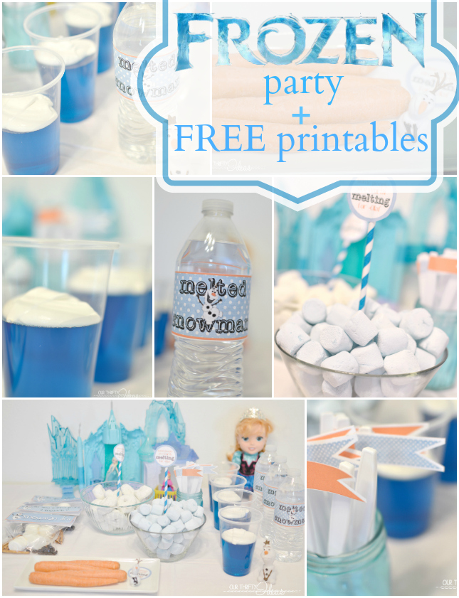 FROZEN Party with FREE printables because you know Frozen isn't going anywhere!! {The Love Nerds' Birthday Month}
