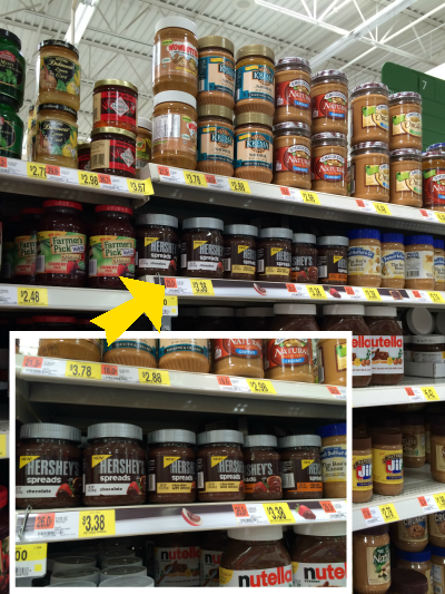Hershey's spread available only at Walmart