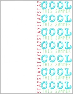 Free Printable to give friends on the last day of school