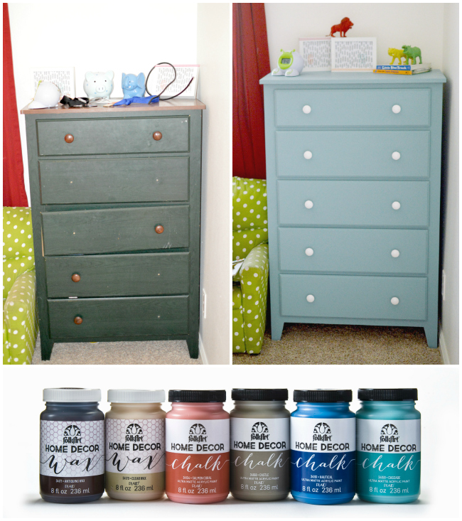 Refinishing A Kids Dresser Using Folkart Home Decor Chalk And Creating Gender Neutral