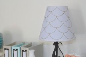 DIY scalloped Lamp Shade