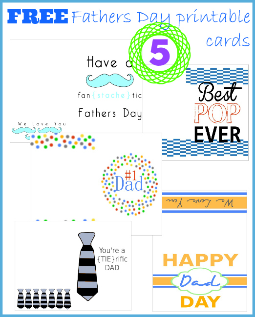 5 free fathers day printable cards