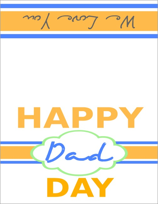 Happy Dad Day printable Fathers Day card