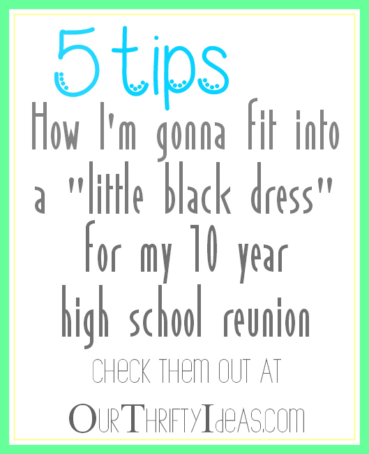 tips for fitting into a little black dress