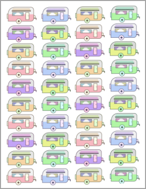 vintage camper rainbow printable