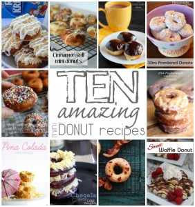 10 amazing mini donut recipes