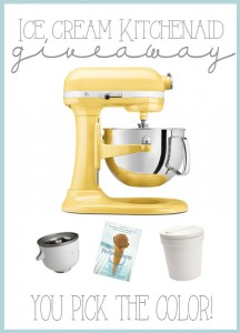 Kitchenaid ice cream maker giveaway