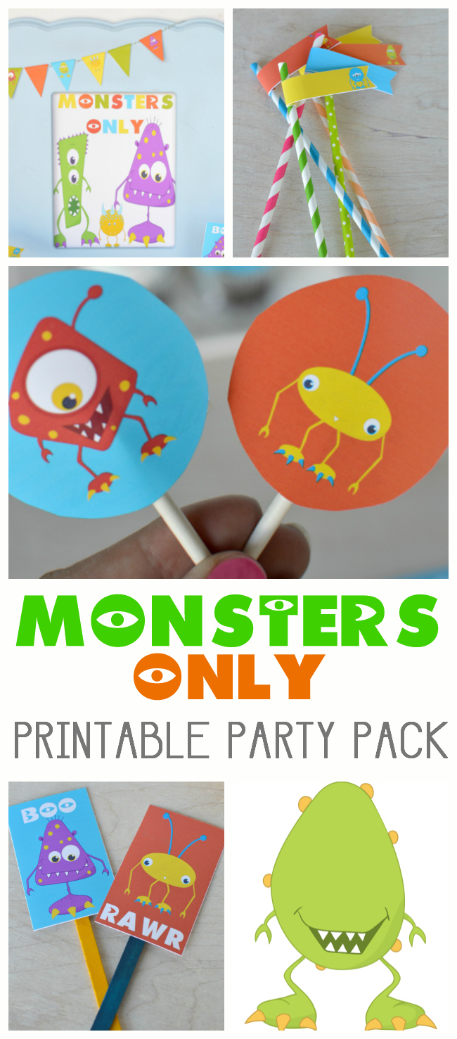 MONSTERS ONLY PRINTABLE PARTY PACK