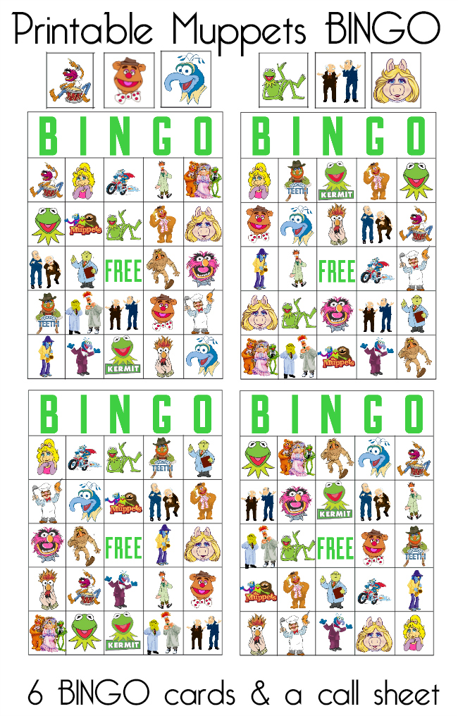 Muppets Most Wanted on Blu-Ray and BINGO Printables - Our ...